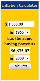$1000 in 1965 = $6835.02 in 2008